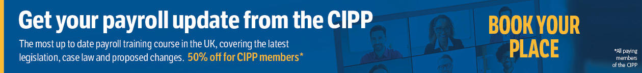 Payroll update training course 50% off for CIPP members